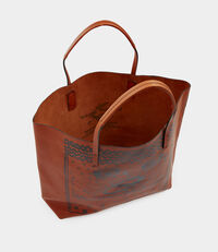 Greek Eyes Leather Shopper