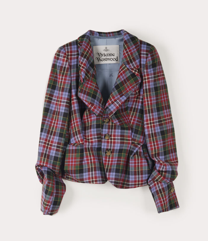 Drunken Tailor Jacket Brick Tartan 1