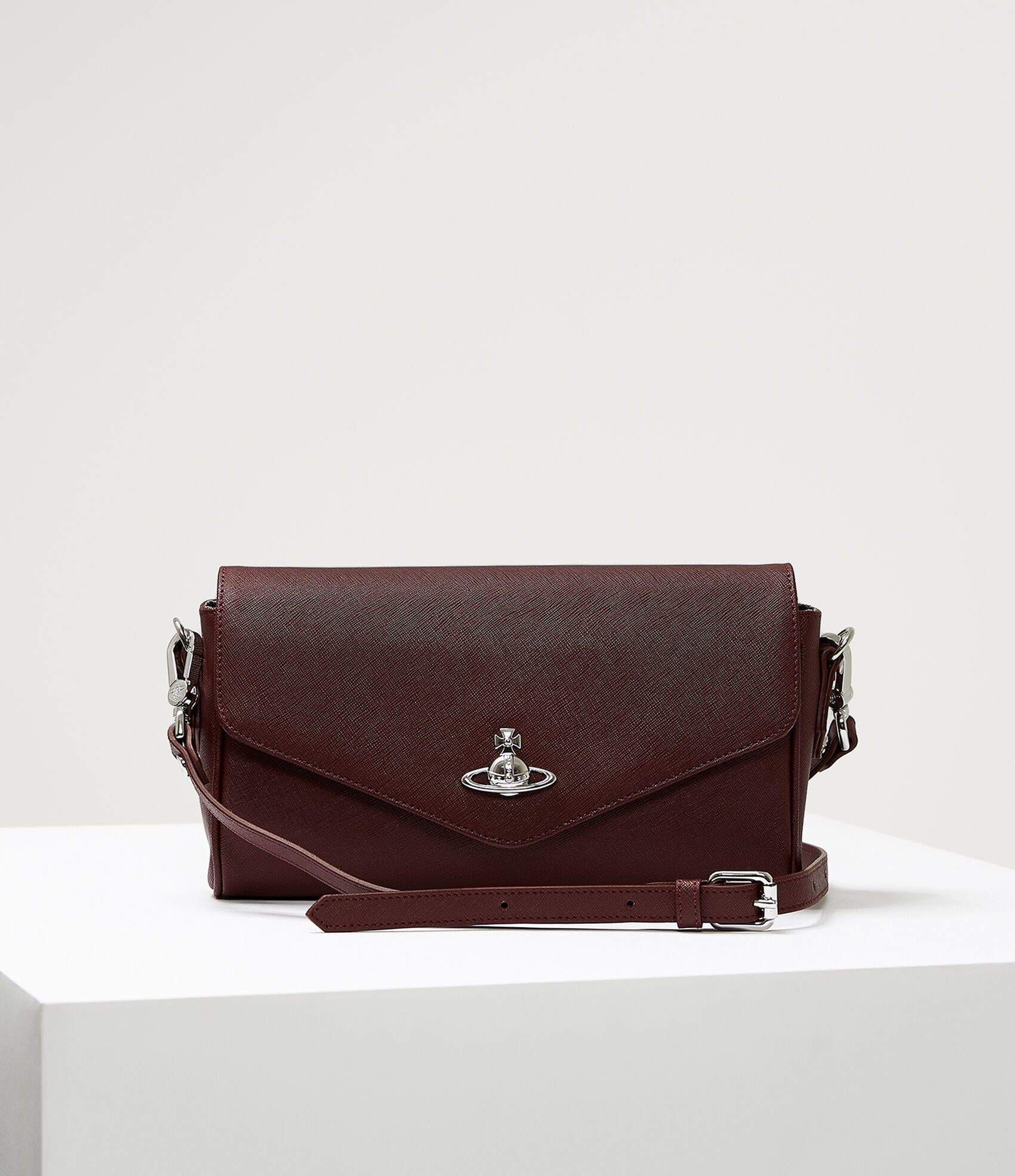 Vivienne Westwood Women S Designer Crossbody Bags Victoria Large Burgundy