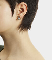 Lena Bas Relief Earrings Gold/Silver Tone