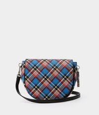 Shuka Tartan Shoulder Bag Blue