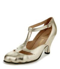 T-Bar Shoe Gold
