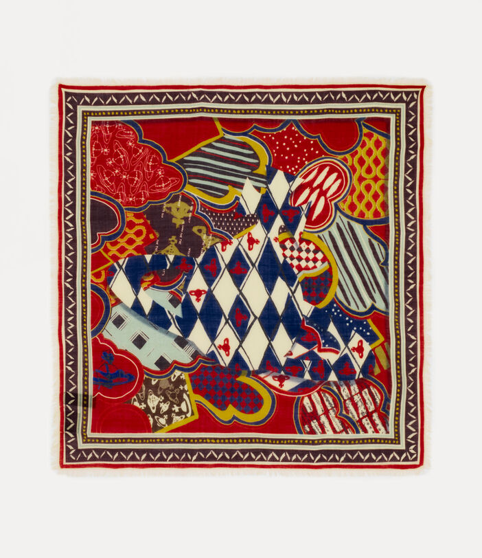 New Toile Square Red 1