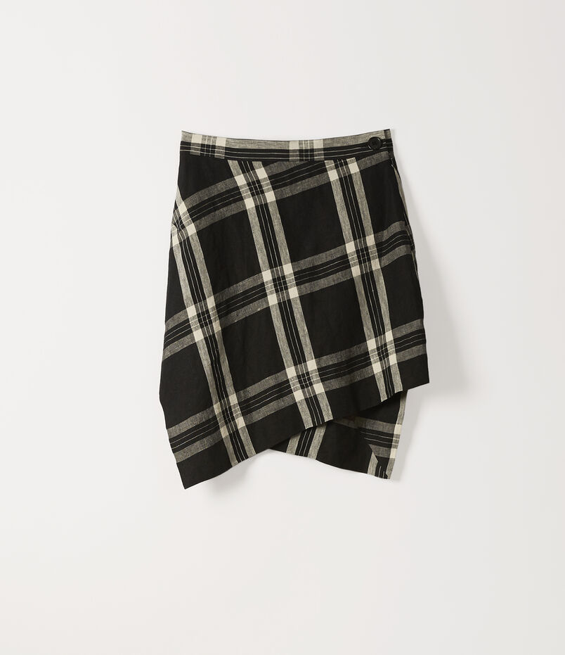 49aadb163b2 Mini Infinity Skirt Black White Tartan