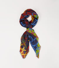 Squiggle Square Scarf