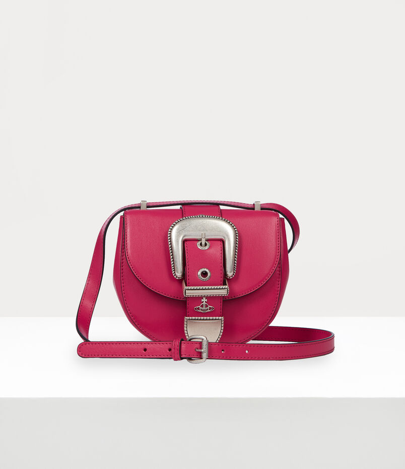 Vivienne Westwood Rodeo Small Saddle Bag Pink
