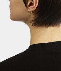 Sterling Silver Nina Earrings Golden Tone