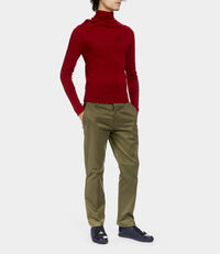 Polo Jumper Red