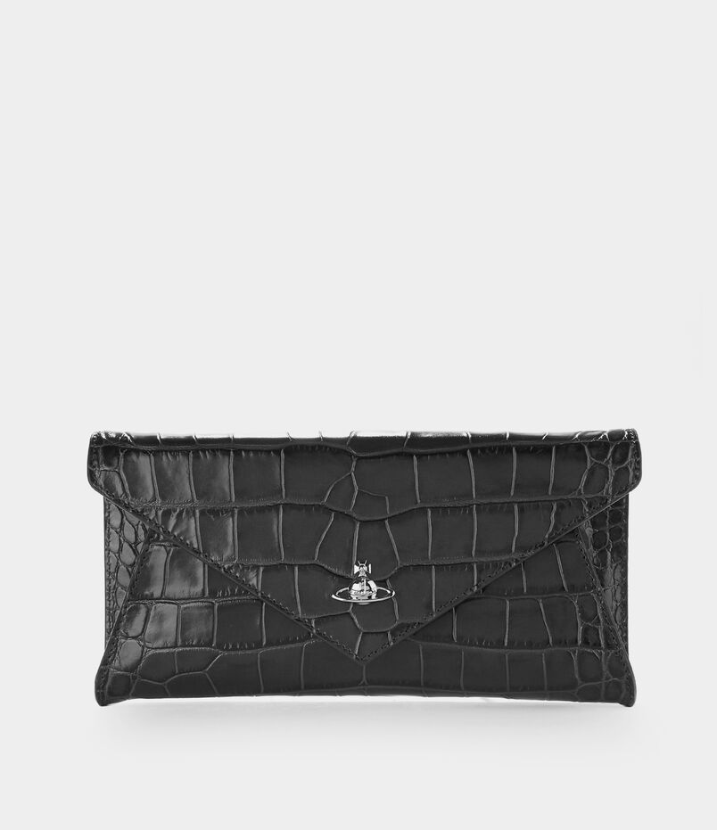 Lisa Envelope Clutch Black