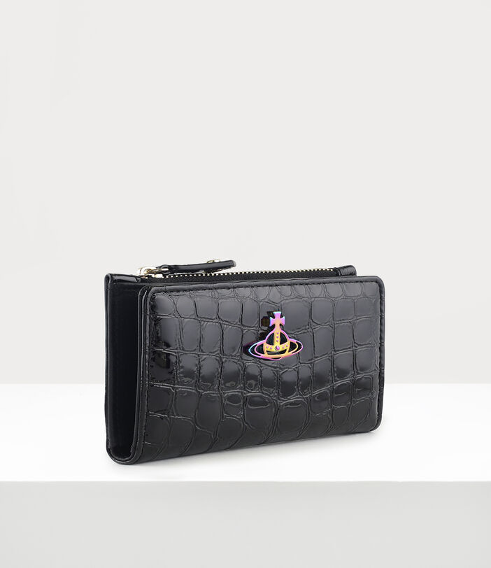 Archive Orb Slim Flap Card Holder Black/Iridescent 2