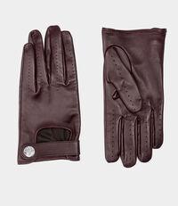 Biker Gloves Burgundy
