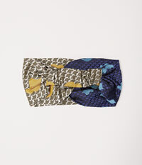 Tie Head band Green/Blue