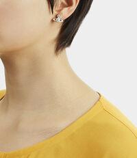 Iris Bas Relief Earrings Silver Tone