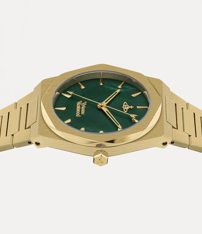 Limehouse Watch Green/Gold 3