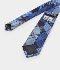 Tartan Jacquard Tie Blue