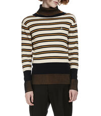 Turtleneck Jumper Cream/Stripe