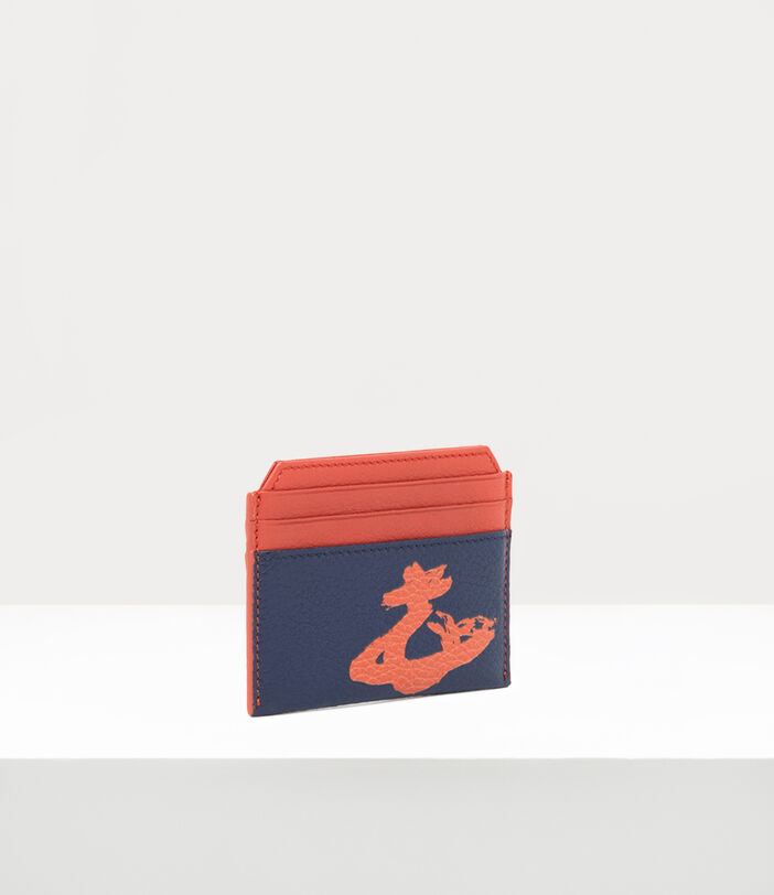 Melih Slim Card Holder Navy/ Orange 2