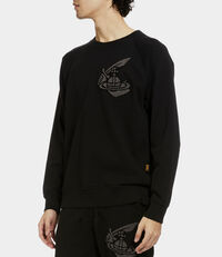 Classic Sweatshirt with Patch Black