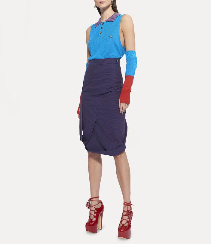 Amnesia Midi Skirt Navy 3