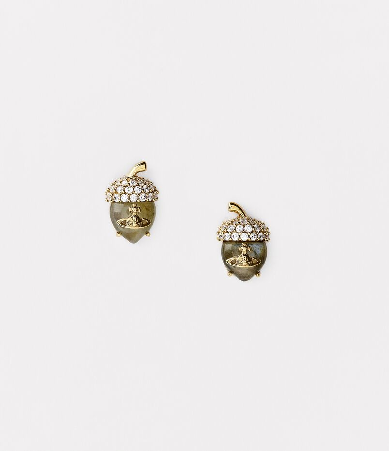 Donella Stud Earrings Gold Tone