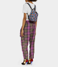 Shuka Tartan Mini Backpack Blue