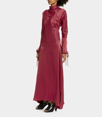 Satin Pourpoint Dress Berry