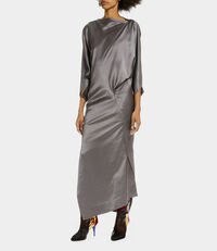 Long Infinity Dress Gunmetal