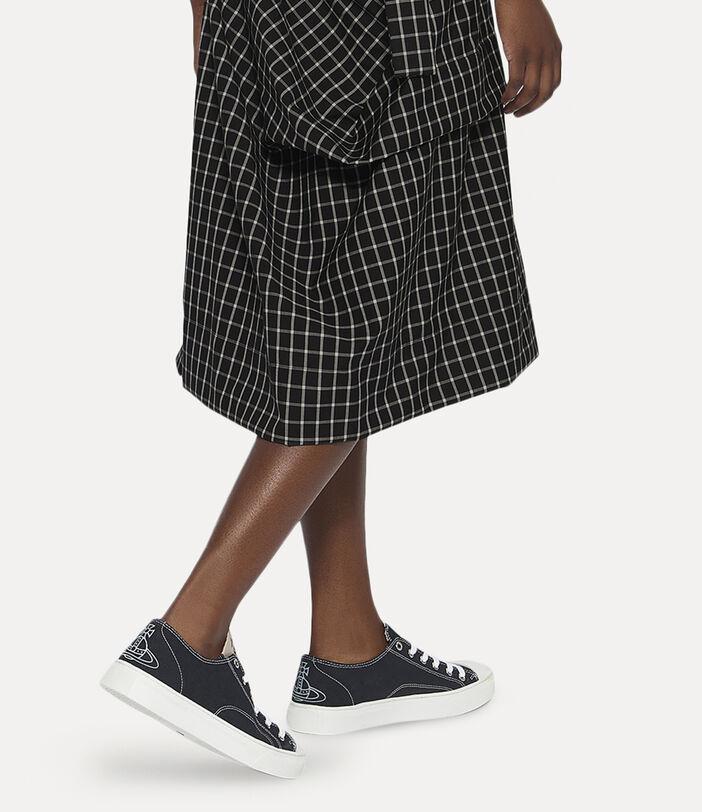 Women's Low Top Plimsolls Black 2