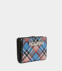 Shuka Tartan Wallet With Coin Pocket Blue