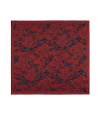 Sketch Orb Jacquard Pocket Square Red