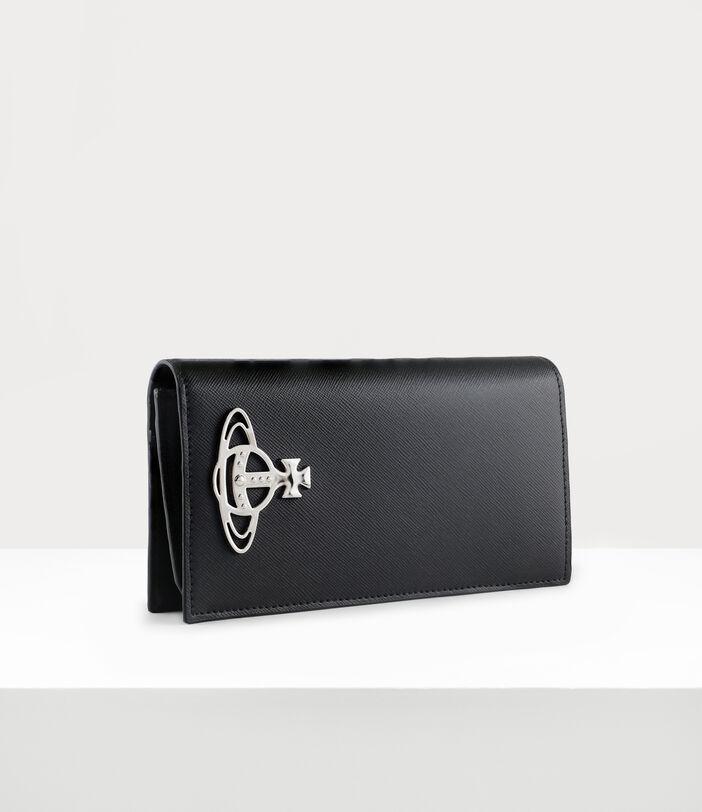 Kent Long Wallet With Zip Black 2