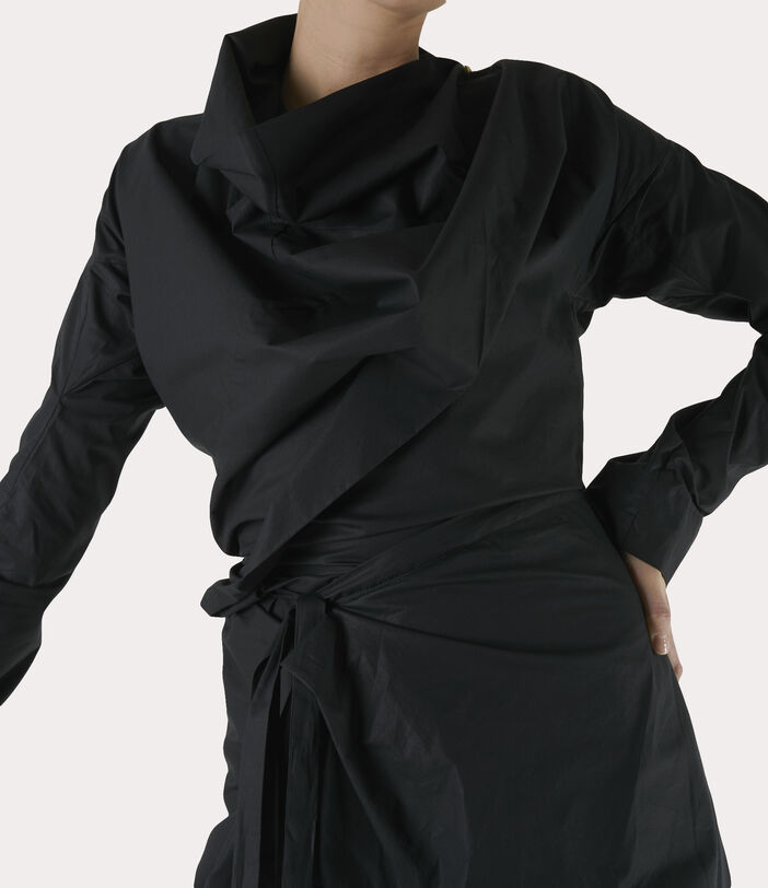 Long-Sleeve Cliff Dress Black 4