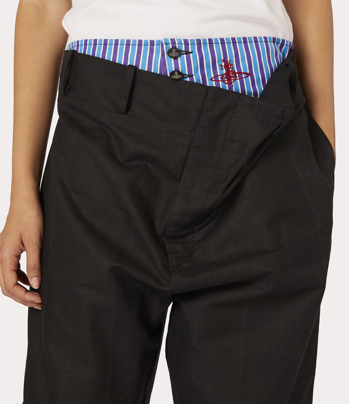Alien Trousers Black Check Herringbone 5