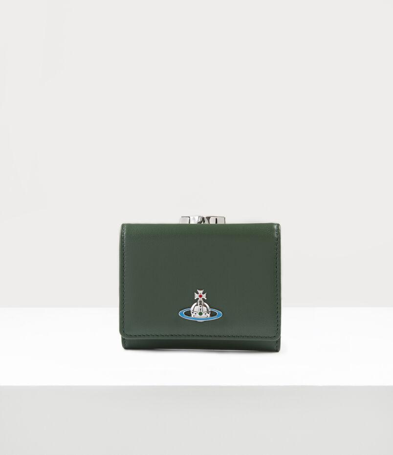 Emma Small Frame Wallet Green