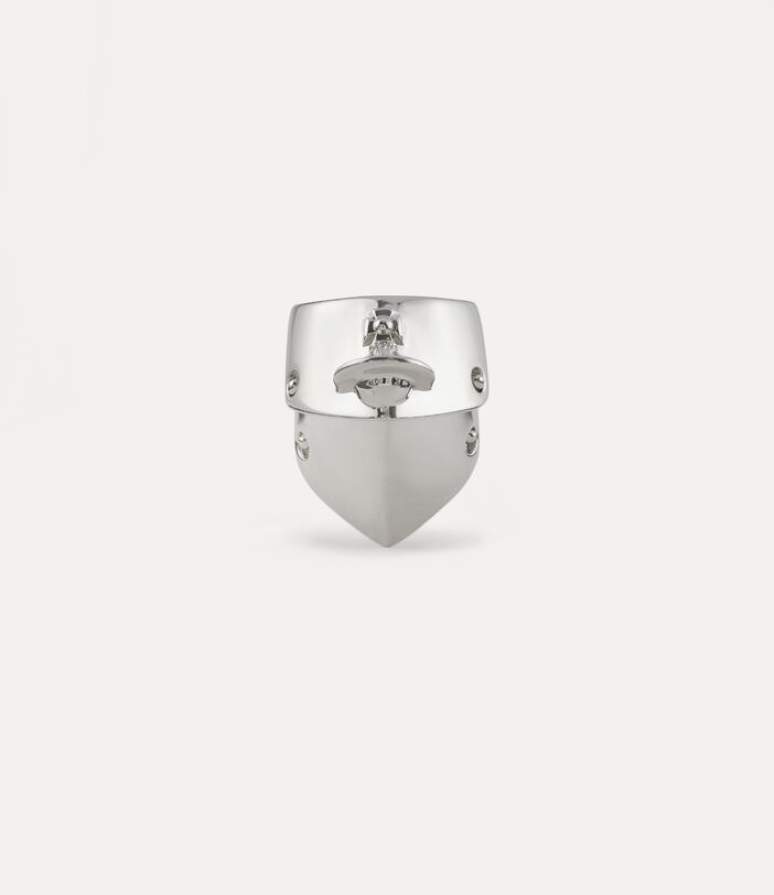Armour Ring Silver-Tone 1