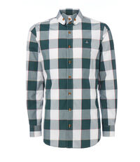 Two Button Krall Shirt Gingham Green