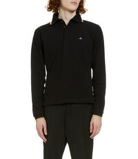 Long Sleeved Polo Shirt Black