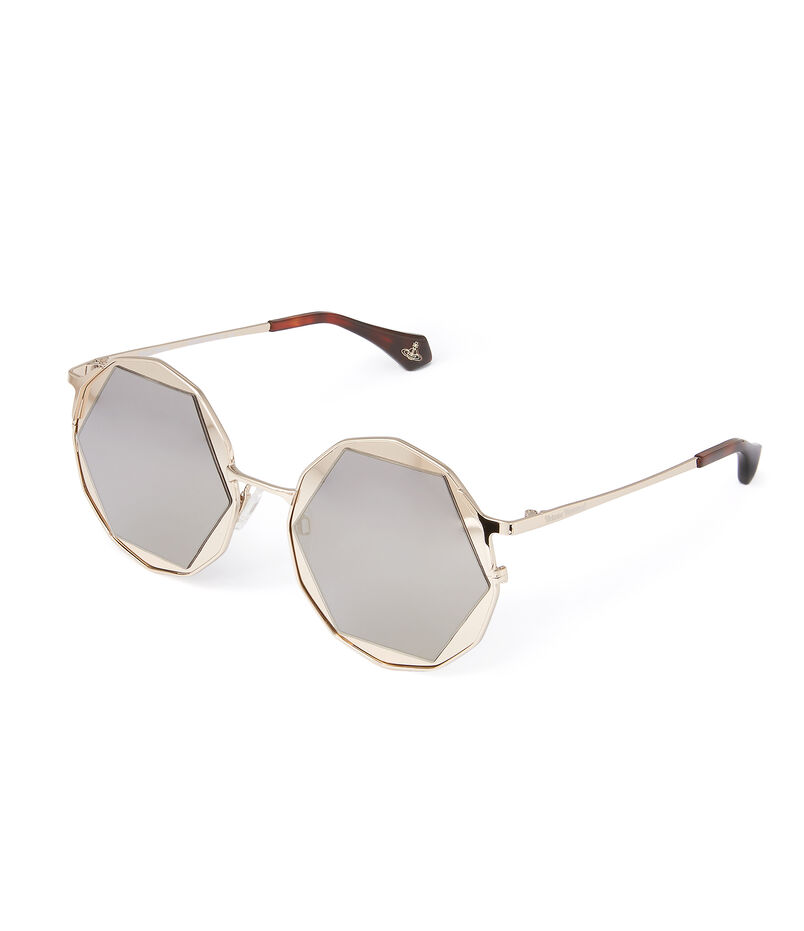 Gold Hexagon Sunglasses VW938S2GDG