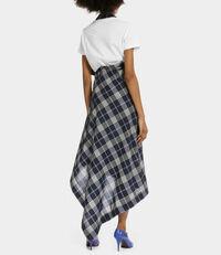 Apron Skirt Cream on Navy
