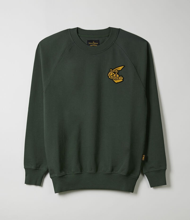 Classic Sweatshirt With Badge Green 32cafdb96