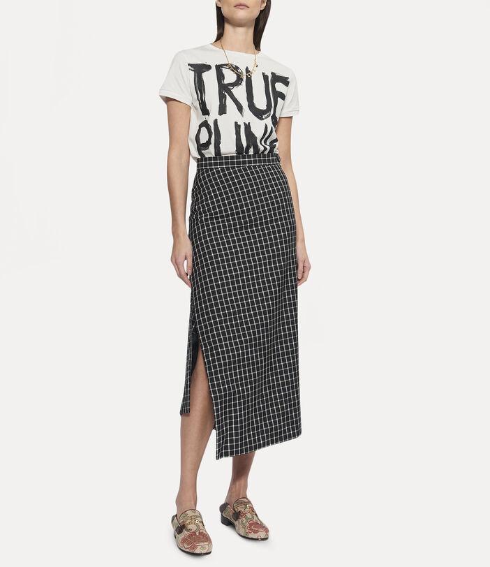 Midi Infinity Skirt Black Small Check 3
