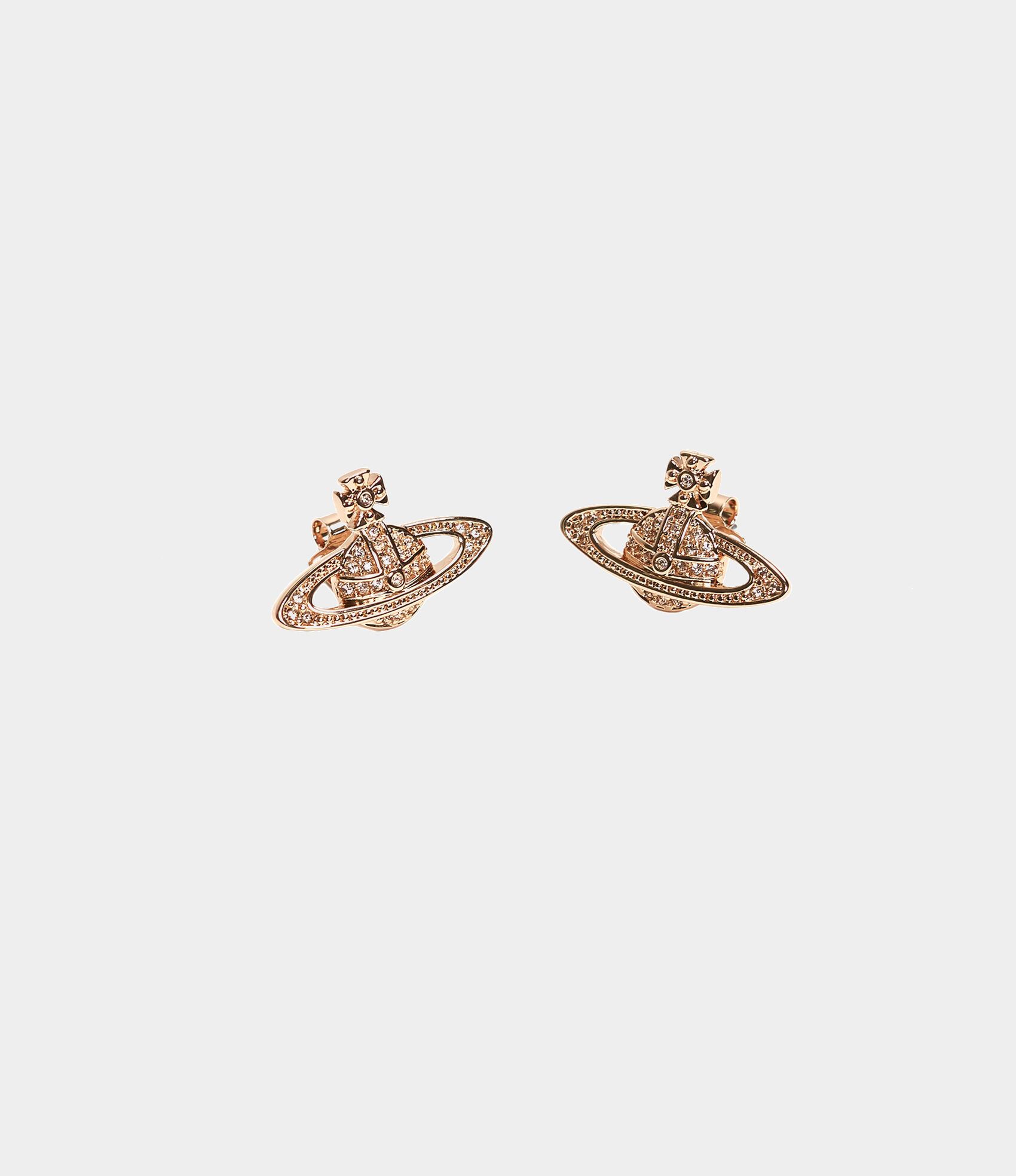 33f43bb7a46 Mini Bas Relief Earrings Pink Golden Tone