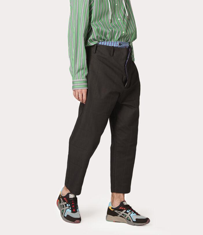 Alien Trousers Black Check Herringbone 7