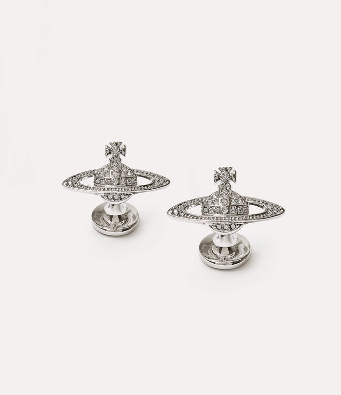 Mini Bas Relief Cufflinks Silver-Tone 1
