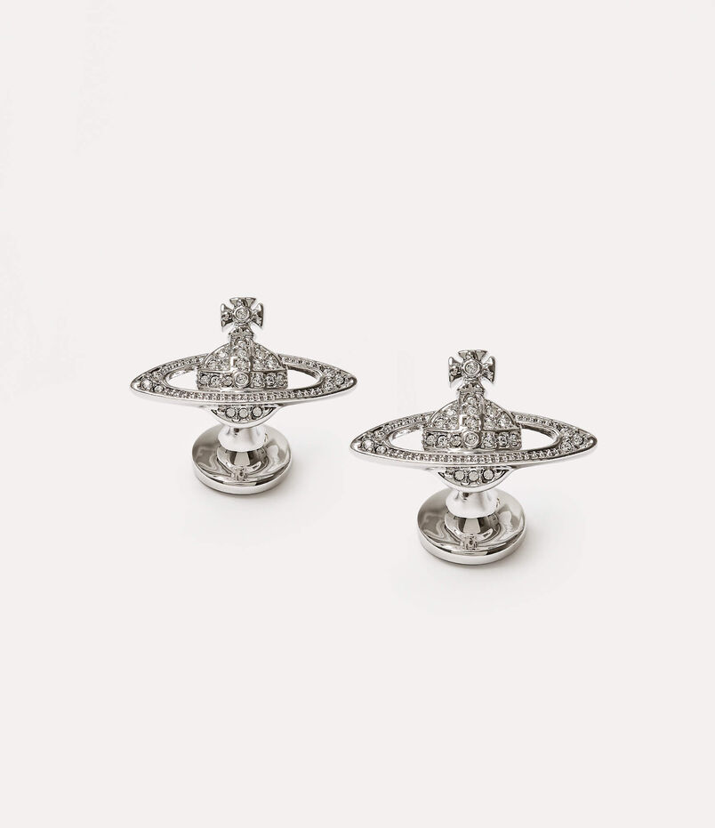 Mini Bas Relief Cufflinks Silver-Tone