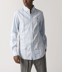 Two Button Krall Shirt Pyjama Stripes