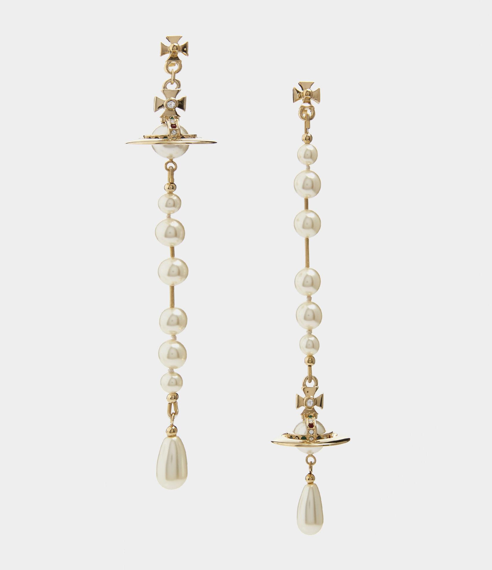 Vivienne Westwood Earrings Women S Jewellery Broken Pearl