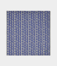Lines and Circles Blue Handkerchief