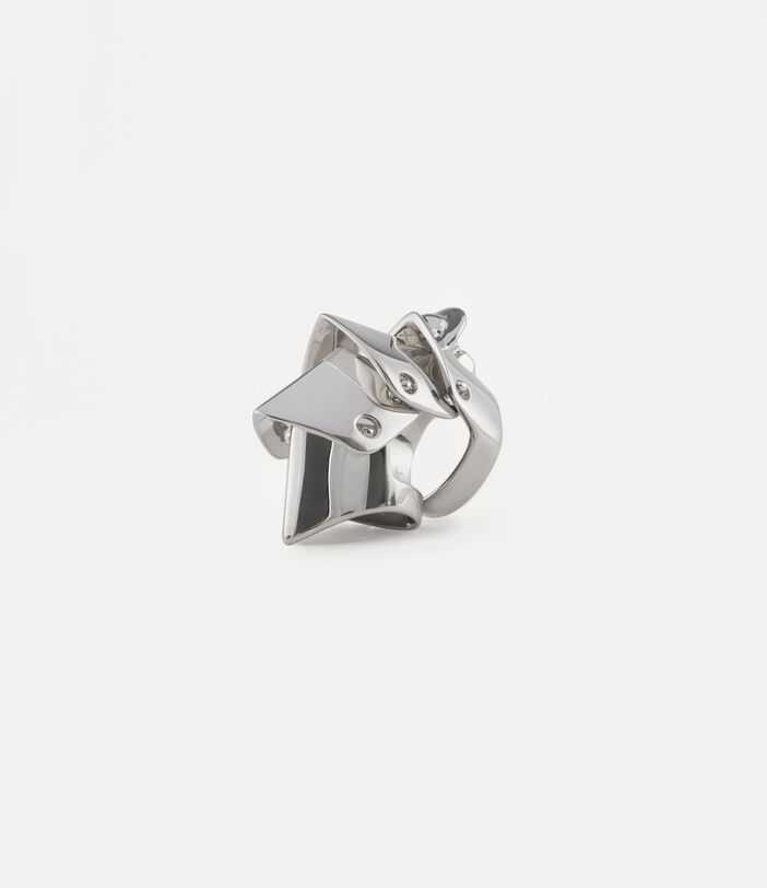 Armour Ring Silver-Tone 2