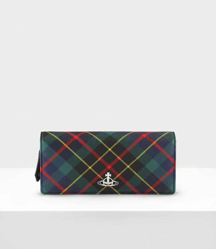 Derby Classic Long Wallet Hunting Tartan 1